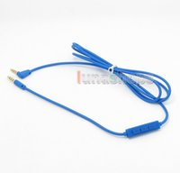 Cheap With Mic Remote Headphone Cable For Marshall Monitor crusher Parrot Zik Bluetooth etc.