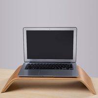 Wholesale Universal Desktop Computer Bamboo Laptop Stand Dock Holder Bracket for iMac PC Notebook Laptop Top Quality C2157