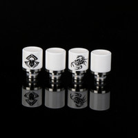 bear prints - Ceramic Wide Bore Drip Tips printing with spider and scorpion Drip Tip EGO Atomizer Mouthpieces for RDA RBA DCT CE4 vaporizer MDO