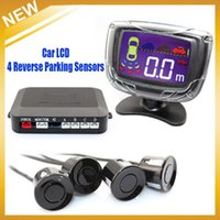 air free reverse - Car LCD Reverse Parking Sensors Backup Radar Kit Multi colors sensor system HongKong Post Air Mail