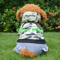 air force t shirt designs - 100 Cotton Air Force Design Camouflage Dog Puppy Clothes Winter Warm Pet Dog Coat Hoodie Clothing