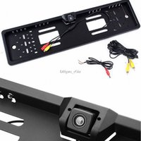 Wholesale Waterproof Car Rear View Backup Camera for Reverse Driving Euro License Plate Frame Bracket Mount w Degree Wide View Angle