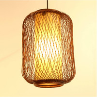 bamboo dining room - Handmade Bamboo Lantern Restaurant Ceiling Pendant Lamp Dining Room Balcony Kitchen Room Restaurant Chandelier Light Fixtures