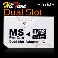 Wholesale Dual Micro SD TF to MS Pro Duo Card Adapter Slot