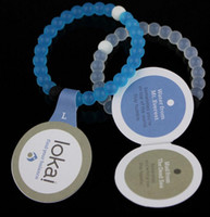 jelly bracelets - New Mud from Dead SeaSilicone blue and white wild lokai bracelets for MEN AND WOMEN With Logo