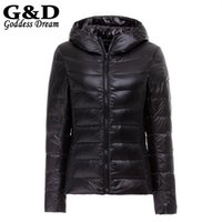 Wholesale Parka Pluma Casacas Campera Mujer Plus Size Winter Ultralight Down Hooded Jackets and Coats JD157