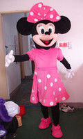 Wholesale High quality beautiful pink Minnie mascot costume adult size