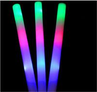 Wholesale Glow Stick LED Toys Keychain LED Sticks LED Colorful LED Glow Flashing Wand Rainbow Light Up Sticks Party Concert Prom Blinking Fashion Cute
