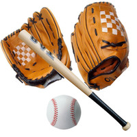Wholesale Baseball Set Pc quot Youth Baseball Glove Pc Inch Wooden Baseball Bat Pc Training Ball Performance Gloves Ball Combo Gift E431J