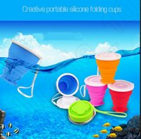 Wholesale design Collapsible Travel Mug Silicone Outdoor Camping Cup Folding Cup Collapsible Silicon Travel Tooth brushing Cup LJJK81