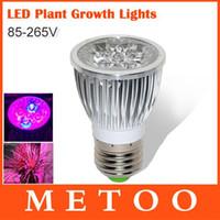 Wholesale 10W full spectrum grow lamp E27 V V led grow lights for flowering hydroponics system Lampada bombillas A5