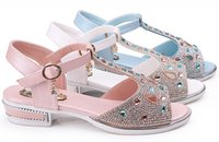 diamante buckles - 2015 summer new style teenage girls shoes high quality children sandals fashion diamante youth dancing party sandals fit age ab2401