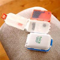 Wholesale New Arrival Vitamin Medicine Pill Boxes Candy Color Splitters Sort Folding Storage Case Container Pill Case for Little Items Easy Handle