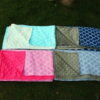Wholesale Blanks Ready in Stock Quatrefoil Baby Blankets Minky Baby Blankets Swaddle Infinite Toddle Blankets DOM103223