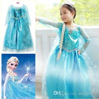Wholesale Girls Princess Anna Elsa Cosplay Costume Kid s Party Dress Dresses SZ7 Y frozen dress for