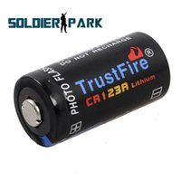 Wholesale 2pcs Super Power Capacity Trustfire mAh CR123A V Battery Li ion Lithium Protected Safety Durable Battery Black order lt no track