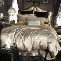 Wholesale Luxury jacquard satin cotton silk BEDDING bedding set duvet cover SET bed sheet comforter set