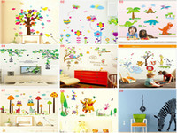 Wholesale DHL EMS Mix Styles Cartoon Removable wall stickers for kids rooms babies wall decals wallpaper wall art home decor wall decals
