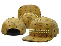 Wholesale 2015 New Rivets Rivet MCM snapback hats Men women baseball cap Hip hop caps Fashion leather Ball hats mcm snapbacks fishing camping hat