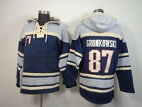 Wholesale Rob Gronkowski Hoodies Football Lace Up Pullover Hooded Sweatshirt Navy Blue Football Wear Sports Team Hoodies Men s Outerwear with Hat
