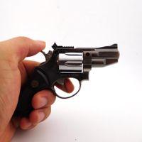 arm lighter - High quality metal revolver model gun Lighter cool gas windproof pistol lighter for Cigarette Lighter Gadgets gun metal arms