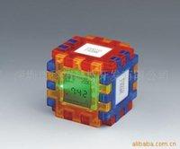 Wholesale Supply Rubik Cube calendar clock clock Cube clock creative clock