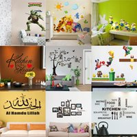 PVC wall quotes - Mix Order Removable Cartoon Quote Wall Stickers for Kids Nusery Room Decorative Wall Decals Home Movie Wallpaper Art d Window