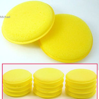 Wholesale Very Useful Yellow Soft Polish Round Car Cleaning Washing Sponges Sponge Wax set
