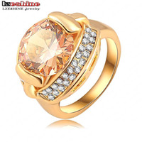 Wholesale Unique Designs Fashion Women Rings K Gold Plated Zircon Ring with Austrian Crystal Cocktail Rings anel feminino Ri HQ0229