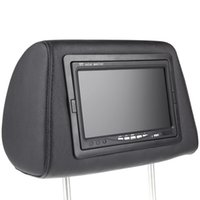 Wholesale 2pcs Universal quot HD TFT Car Headrest DVD Player Headrest Monitor Built in Screen AV IN Remote Controller