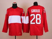 Cheap 2014 Sochi Olympic Hockey Jersey #28 Claude Giroux Red Ice Hockey Jerseys