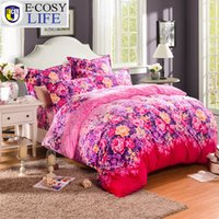 Cheap Brand New Luxury Flannel Bedding Set King Size 4Pcs Fashion Supersoft Floral Bed Sets Warm Queen Duvet Cover Bed Sheet Bedspread