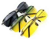 al grey - Al Mg Frame Anti Glare Polarized UV Men Sun Glasses
