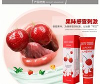 lubricants anal lube - 2 Can Eat The Lubricating Oil Water Soluble Lovekiss Cherry ml Anal Oral Breast Foot Body Lube Oil Sex Products Lubricant