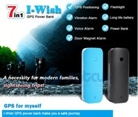 banks power canada - Portable GPS Tracker Multifunctional Position with Power Bank LED Light Real Time Sound Vibration Alarm Mini V20
