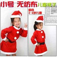Precio de Pequeñas faldas de los niños-Pequeño falda no tejido para niñas de decoración de Navidad de Santa Claus Navidad suministros al por mayor de ropa de niños