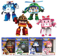 Cheap Hot Robocar poli deformation car bubble toys 4 styles police car fire truck ambulance service helicopter