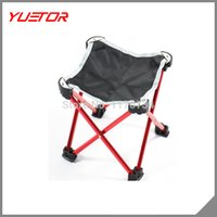 Wholesale mini size portable Aluminium Alloy fishing chair Foldable Folding Chair for Camping Fishing Outdoor Picnic