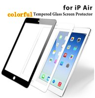 Wholesale 0 mm H colorful Tempered Glass Film Screen Protector For iPad mini Ipad air