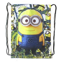 alice peach - Styles Hot Cartoon Movie Print Polyester Backpacks CM CM DrawString Bag Minion Minions Alice in Wonderland Elmo