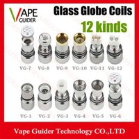 Wholesale Dual Coil For Wax Glass Globe Atomizer Clearomizer Double Ceramic Rod Coil Titanium Wick Glass Globe Replacement Coil Head