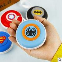 L'arrivée de nouveaux Purse Nouveauté Super Hero Coin Silicone Wallet Key double écouteur Organizer Box JIA256