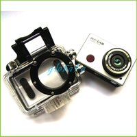 Wholesale Sportscam Action Sport Waterproof Camera with Wifi P Full HD DV IR Remote Control Helmet mount Support Control by Phone Tablet
