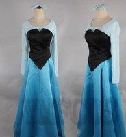 ariel womens costume - Anime Fancy blue color ariel the little mermaid cosplay dress womens costume adult Fantasia Princess dresses halloween costumes