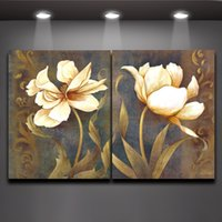 black art - Classical Black White Wall Art Decor Flowers Abstract Painting House Office Decoration Oil Painting Canvas