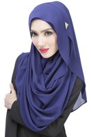 Wholesale New Design Fashion Ice Silk Cotton Muslim Hijabs Headscarf for Women Simple Generous Lazy scarf hedging Scarves Solid Color