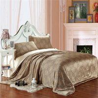 king size bedspreads - Freeshipping Hot King Size Comforter Set Juegos de Cama Silk Satin Bedspreads Coffee Silk Duvet Covers
