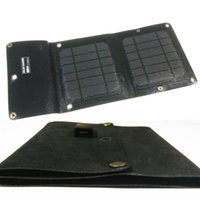 Wholesale new Solar charger folding package W V mobile phone charger Outdoor charger Emergency supply PowerBank GPS MP3 charger
