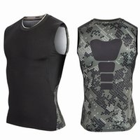 Wholesale New Men Printing Workout Sports Vests Quick Drying Tanks pro combat basketball gym Fitness bodybuilding Tank Top