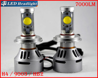 2 jeux H4 HB2 9003 72W 7000LM LED CREE Auto phares système Hi / Low double 4S faisceau UPGRADED MTG2 CHIP Xenon Blanc interchangeables Conduite antibrouillard